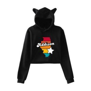 Addison Rae Cropped Hoodie #1