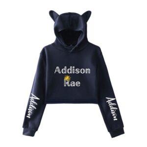 Addison Rae Cropped Hoodie #5